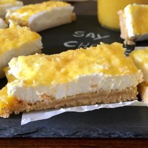 Barrette di cheesecake al mango
