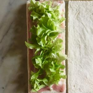 Afternoon tea party and Italian tramezzini recipe with celery sauce