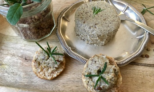 Lenticchie verdi: ricetta per un paté cremoso, saporito, vegano