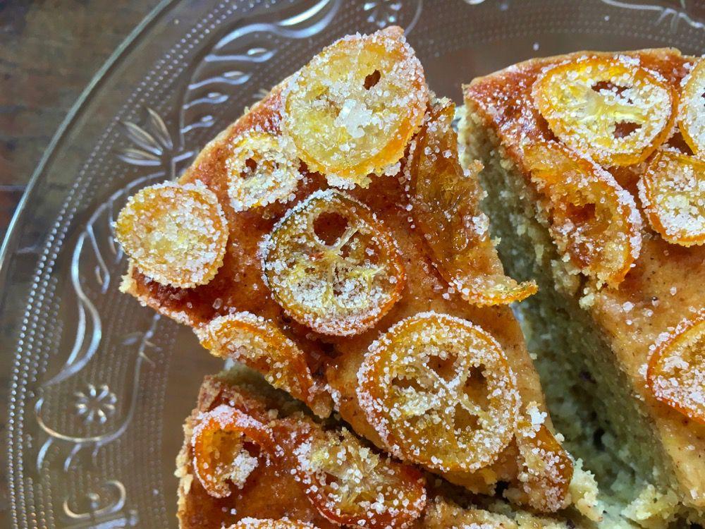 Torta al mandarino e kumquat confit: senza burro, latte e uova