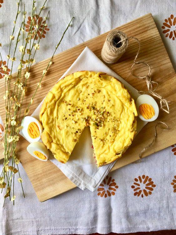 Torta di patate con salamino a cubetti, ricetta senza glutine