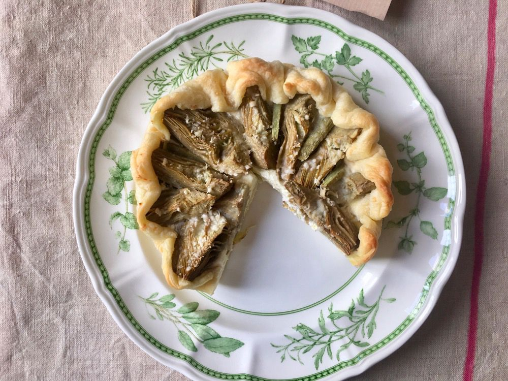 Mama Artichokes and Fresh Mascarpone Savory Tart