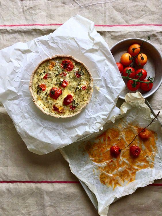 Quiche di pomodorini e origano. L'estate in tavola