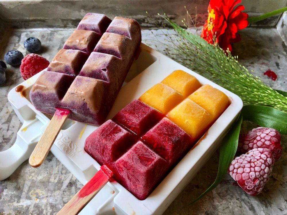 Gelati di frutta casalinghi, senza gelatiera