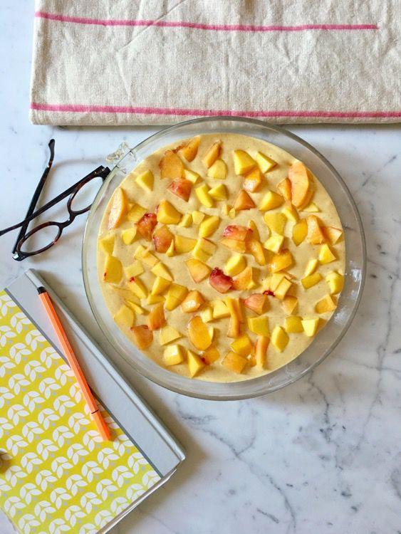 Soft peach cake