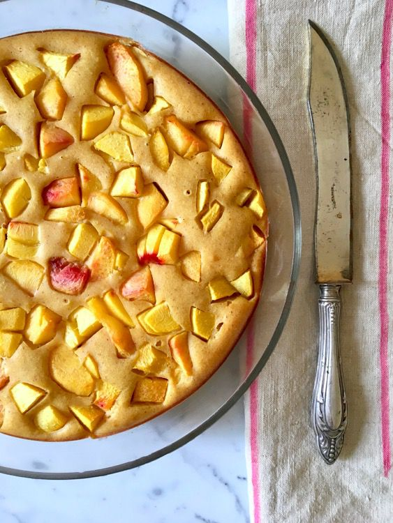 Old Mills And Stone-Milled Flour. Soft Peach Cake