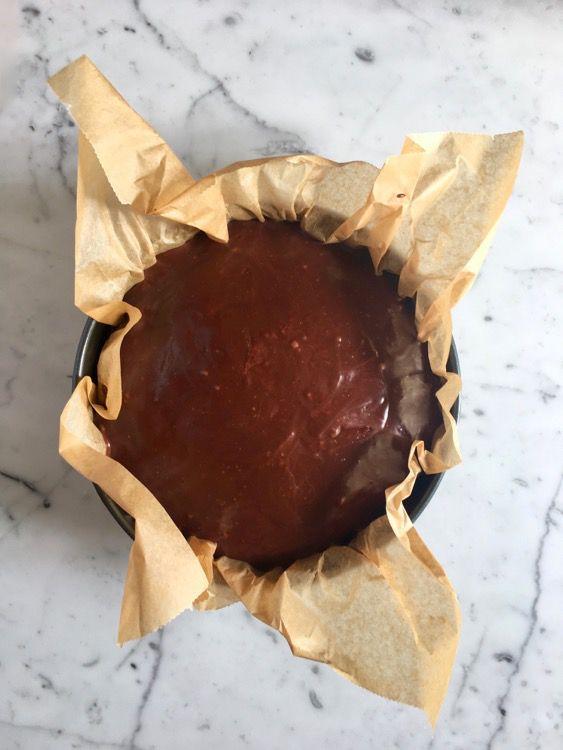 Torta di zucca e grano saraceno con ganache al cioccolato