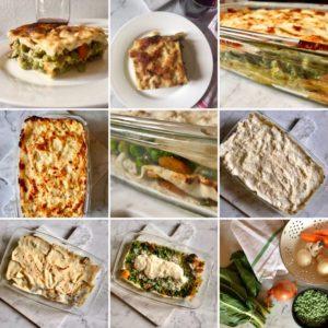 Lasagne di pane carasau con verdure e nuovi ingredienti