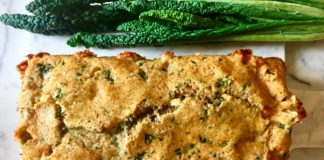 Savory Cheese and Cavolo Nero Loaf Bread