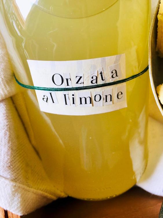 Orzata al limone