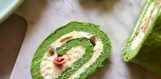 Stuffed Spinach Frittata Roll, Peasant Italian Recipe